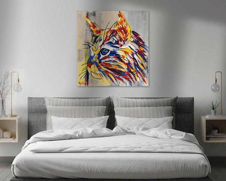 Impression: Chat Argenté par Kathleen Artist sur Kathleen Artist Fine Art
