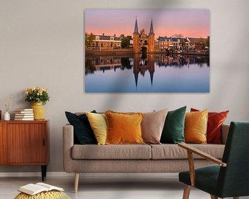 De waterpoort in Sneek, Friesland, Nederland van Henk Meijer Photography