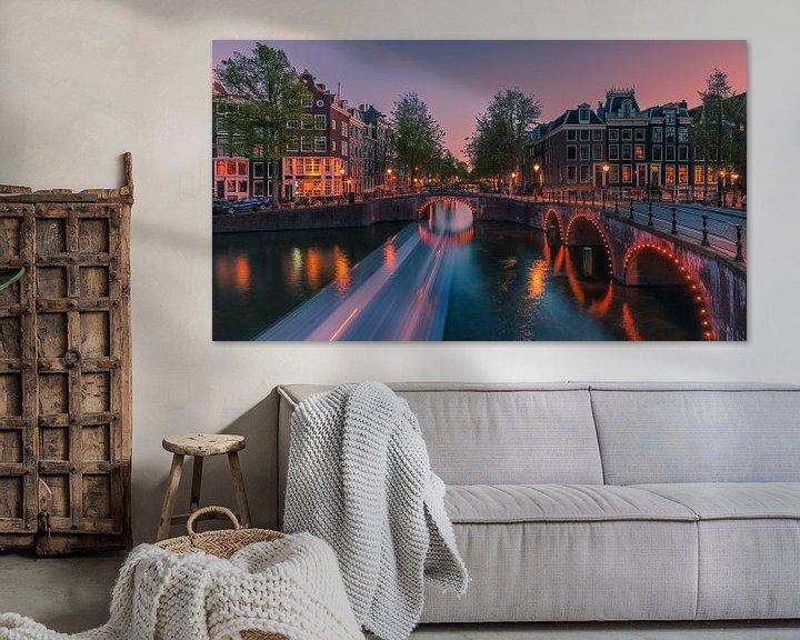 Sfeerimpressie: Een avond in Amsterdam van Henk Meijer Photography