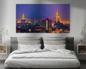 La ville de Groningen à l'heure bleue sur Henk Meijer Photography