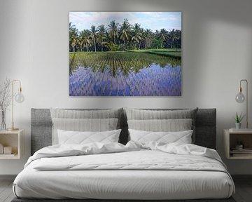 Weerspiegeling in de Balinese Rijstvelden van Lu's Fotografie