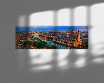 Panoramablick auf Verona, Italien von Henk Meijer Photography