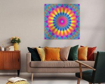 Mandala Regenbogen 4 von Marion Tenbergen