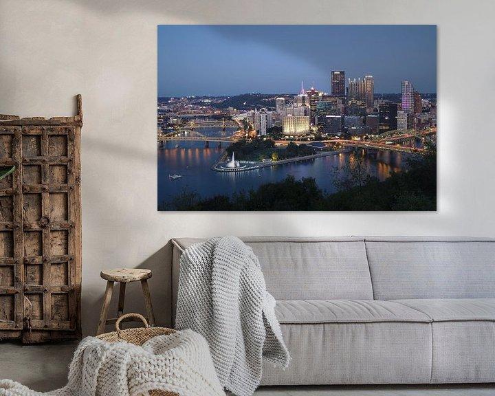 Sfeerimpressie: Pittsburgh - city of bridges van Sander Knopper