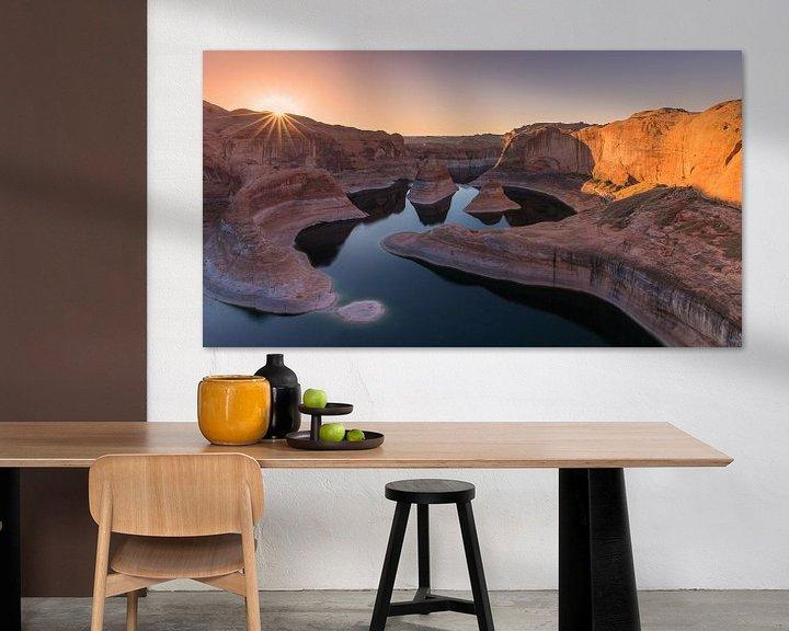 Sfeerimpressie: Zonsopkomst in Reflection Canyon, Lake Powell, Utah van Henk Meijer Photography
