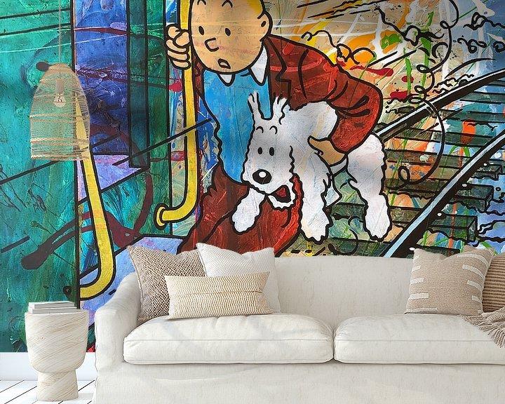 Beispiel fototapete: Tintin und Bobbie  von Frans Mandigers