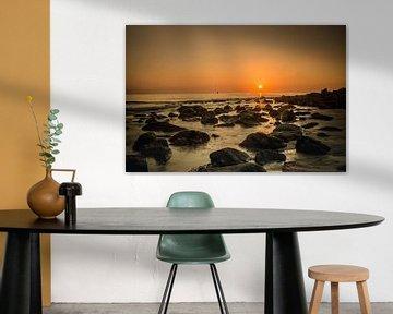 zonsondergang op het badstrand in Vlissingen  sur Robin Hardeman