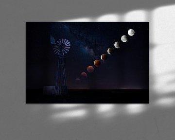 Illustration of the Super Moon Eclipse 2016 van Thomas Froemmel