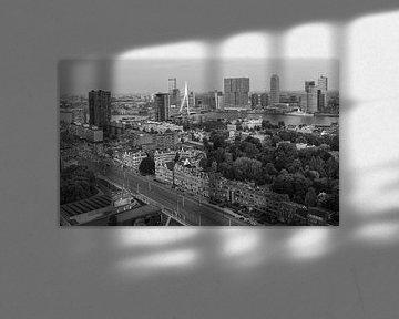 Black&white skyline of Rotterdam von Ilya Korzelius