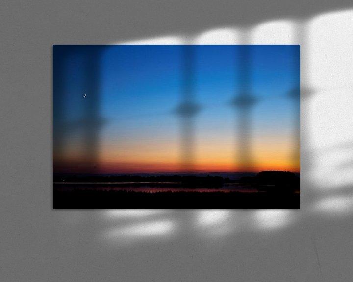 Impression: Schemer in de Biesbosch met de maan sur Martijn Smit