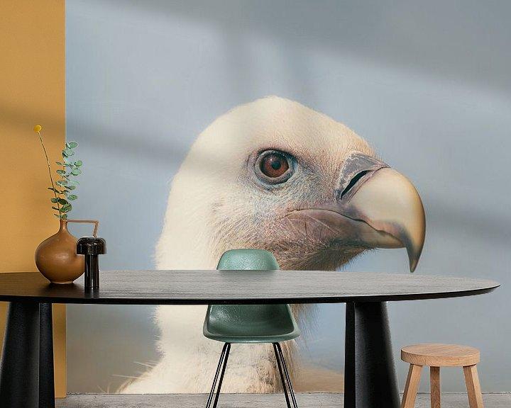 Sfeerimpressie behang: Gänsegeier - Griffon Vulture van Dagmar Marina