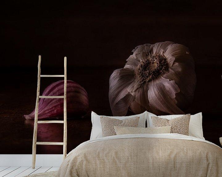 Sfeerimpressie behang: Stilleven knoflook van Martzen Fotografie