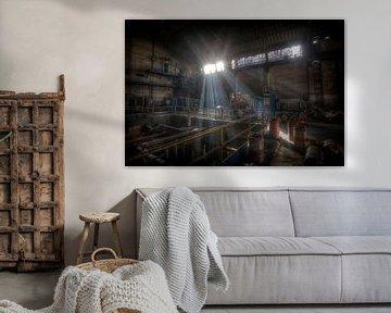 Kraftwerk in einem verlassenen Hochofen von Eus Driessen