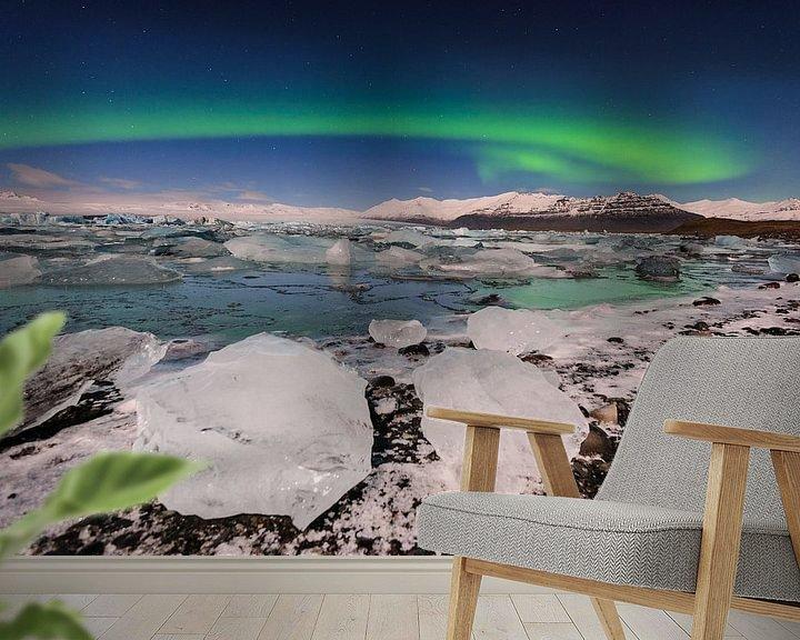 Impression: Aurora over Jokulsarlon sur Sjoerd Mouissie
