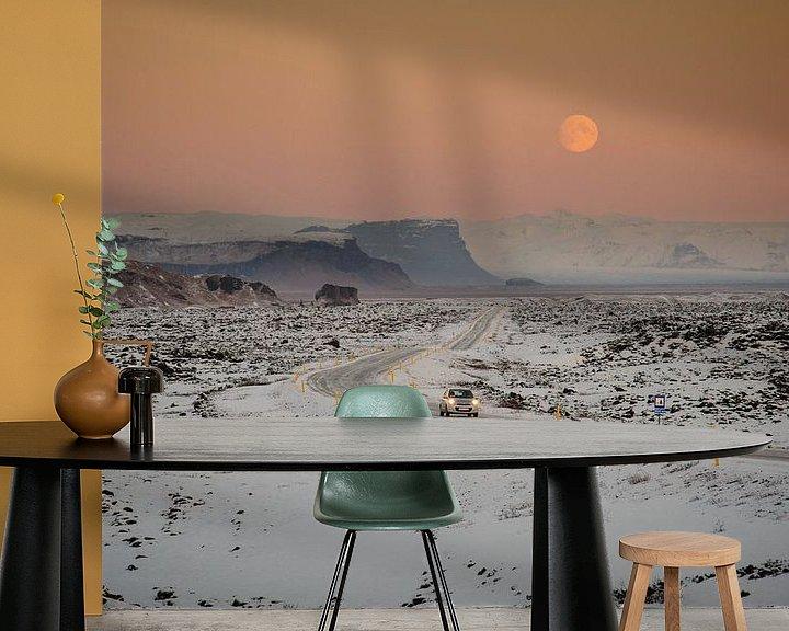 Beispiel fototapete: Avond in het lavaveld von Sjoerd Mouissie