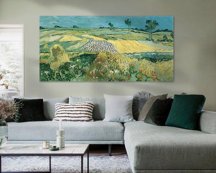Sfeerimpressie: De vlakte van Auvers, Vincent van Gogh