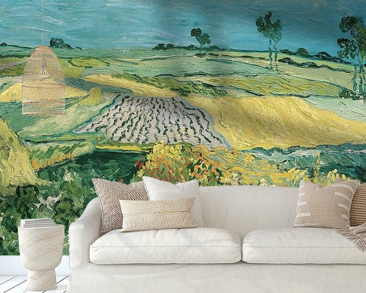 Sfeerimpressie behang: De vlakte van Auvers, Vincent van Gogh