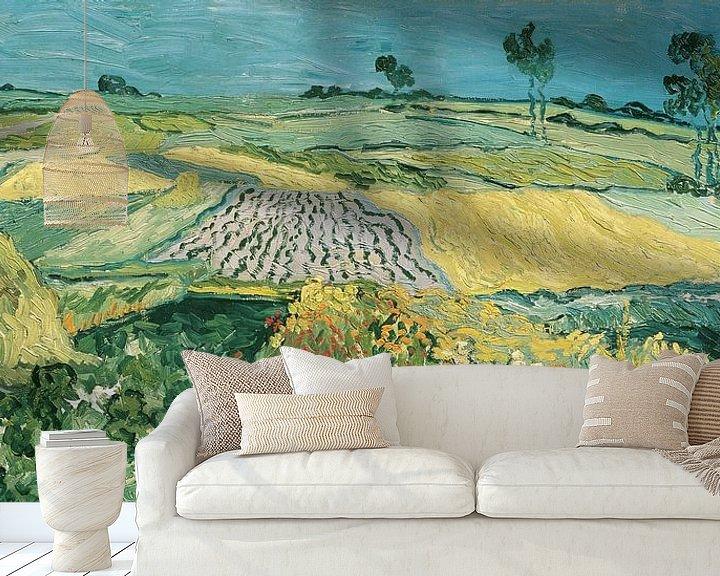 Beispiel fototapete: Die Ebene von Auvers, Vincent van Gogh