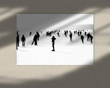 Winter in Zwart Wit van Hans Winterink