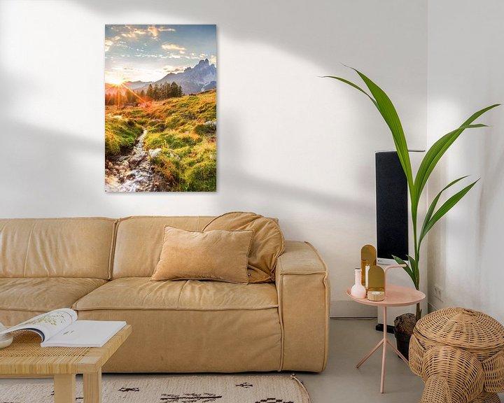 """Impression: Berglandschaft """"Sonnenuntergang auf der Alm"""" sur Coen Weesjes"""