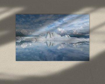 Alaska, Knik Glacier, Icebergs  van Yvonne Balvers