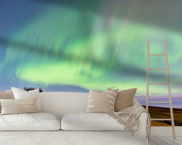 Beispiel fototapete: Island, aurora borealis, polarlicht von Jeannette Kliebisch