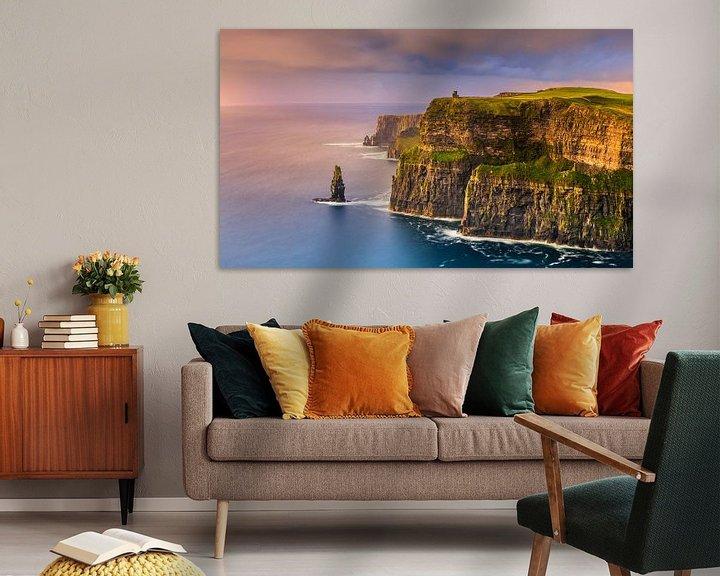 Beispiel: Sonnenuntergang an den Cliffs of Moher, Irland von Henk Meijer Photography