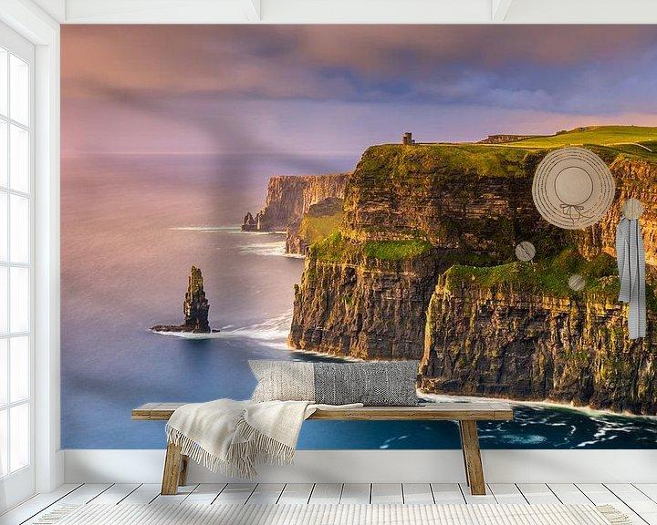 Beispiel fototapete: Sonnenuntergang an den Cliffs of Moher, Irland von Henk Meijer Photography