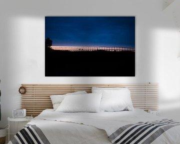 Sunset at surfers paradise von Victor Van Dam