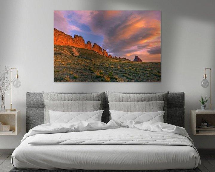Sfeerimpressie: Sunrise at Shiprock van Henk Meijer Photography