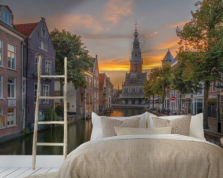 Beispiel fototapete: Zijdam und der Waag, Alkmaar von Sjoerd Veltman