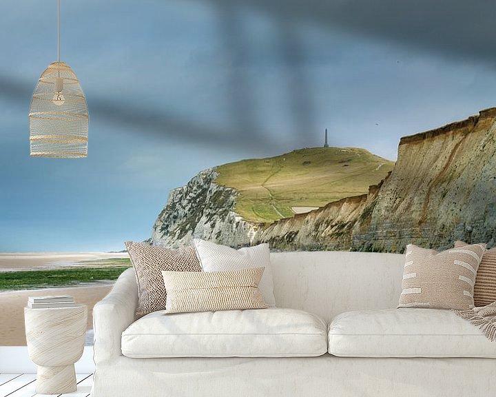 Sfeerimpressie behang: De krijtrotsen van Cap Blanc Nez van Nando Harmsen