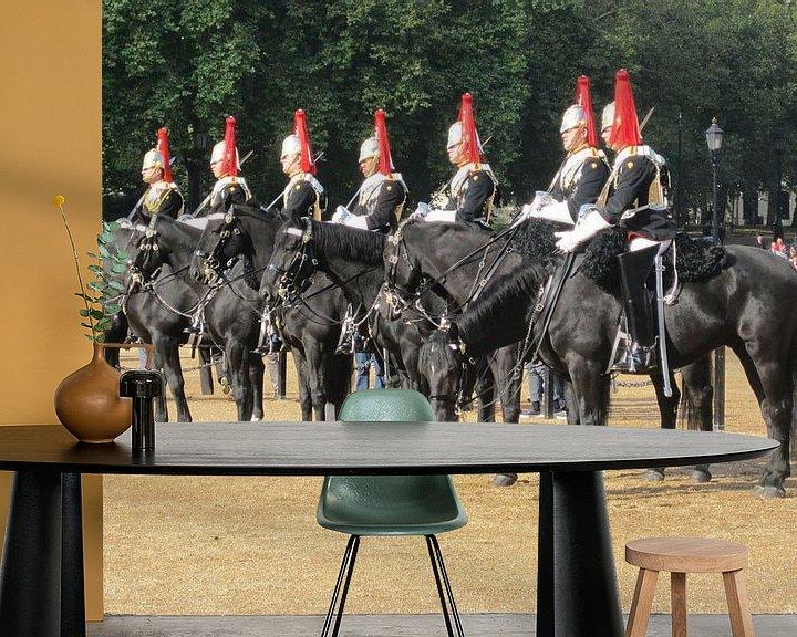 Beispiel fototapete: Paarden in Londen die salueerden voor de koning. von Wilbert Van Veldhuizen