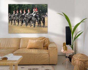 Paarden in Londen die salueerden voor de koning. von Wilbert Van Veldhuizen