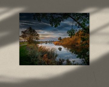 Silent evening in Fall van Ruud Peters