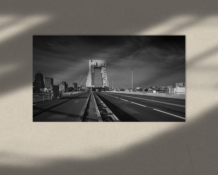 Sfeerimpressie: Willemsbrug, Rotterdam van Daan Overkleeft