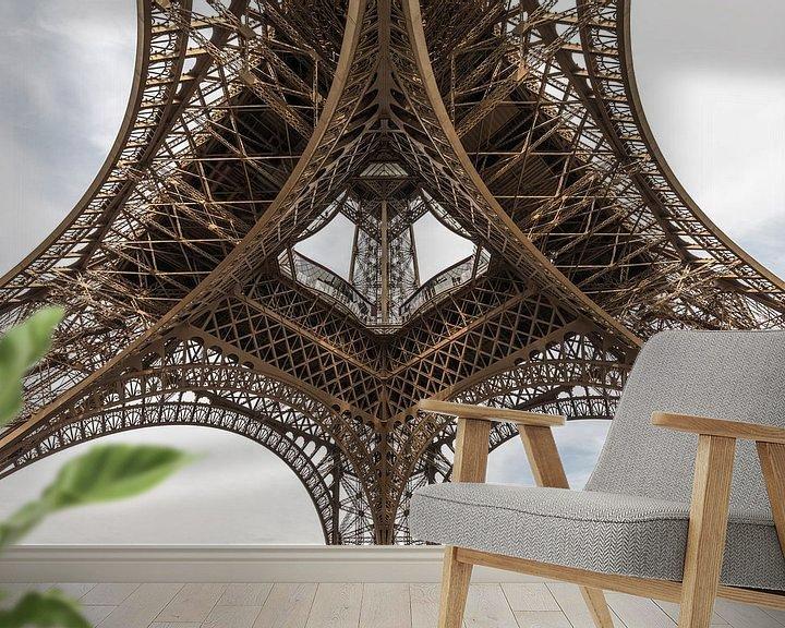 Sfeerimpressie behang: De Eiffeltoren in Parijs van MS Fotografie   Marc van der Stelt
