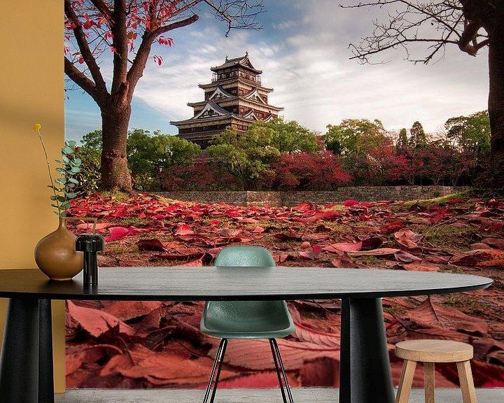 Sfeerimpressie behang: Autumn in Hiroshima van Niels Tichelaar