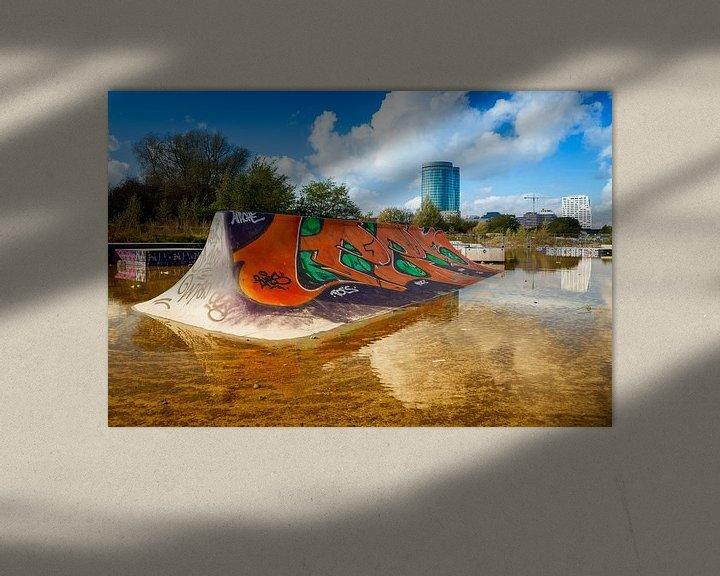 Sfeerimpressie:  skateboardbaan Utrecht van Eugene Winthagen