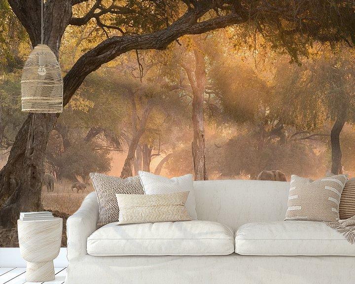Sfeerimpressie behang: Magisch bos. van Francis Dost