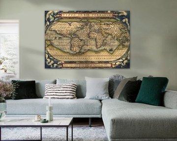 """Weltkarte von 1570 aus dem """"Theatrum Orbis Terrarum"""""""