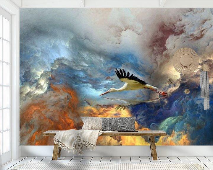 Sfeerimpressie behang: boven de wolken van Marion Tenbergen