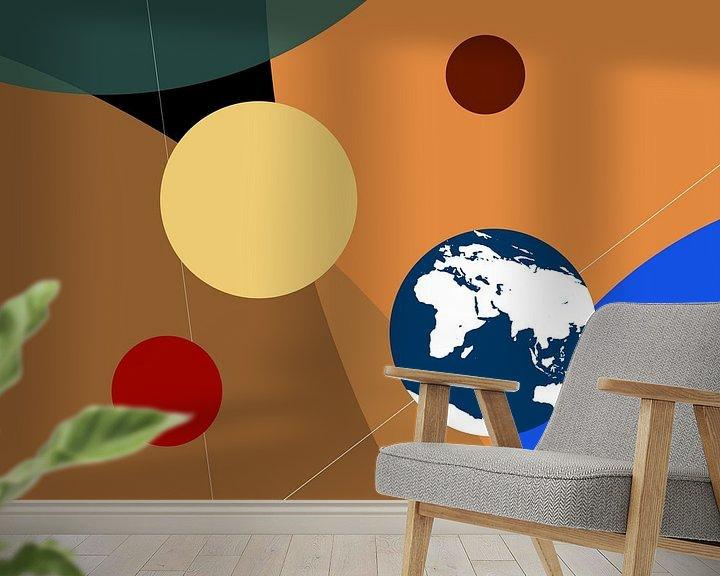 Sfeerimpressie behang: Portret van de planeten - grafisch van Frans Blok