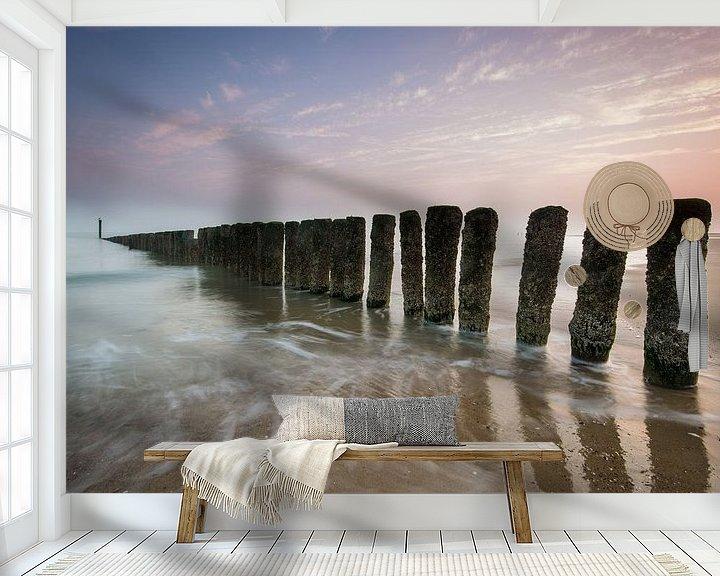 Sfeerimpressie behang: Nieuwvliet-Bad van Stijn Smits