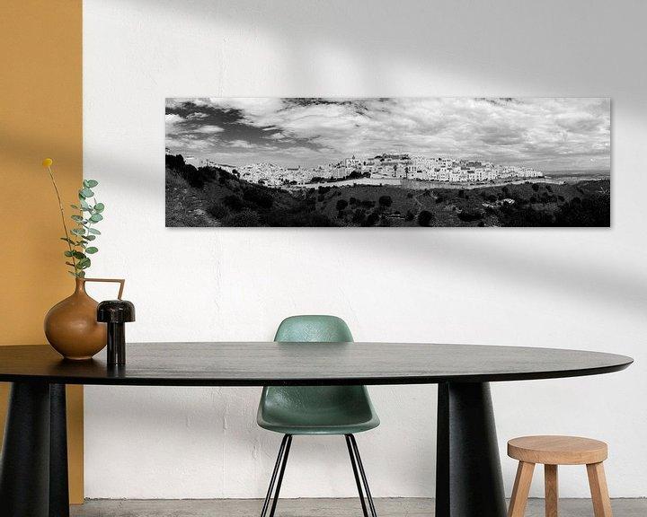 Sfeerimpressie: Vejer de la Frontera (zwartwit panorama) van Jack Koning