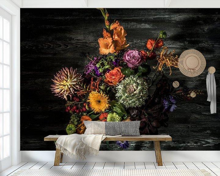 Sfeerimpressie behang: Bloemen van Hermen Buurman
