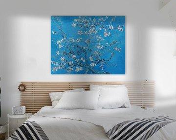 Fleur d'amandier par Vincent van Gogh (Bleu vif)