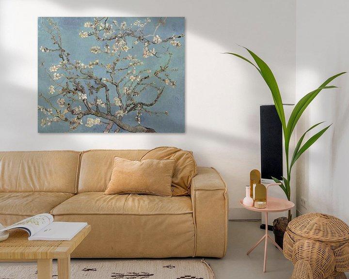 Beispiel: Mandelblüte ALMOND BLOSSOM zartes blau, morgentau - Vincent van Gogh