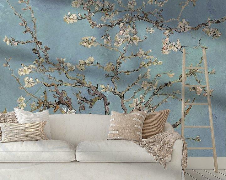 Beispiel fototapete: Mandelblüte ALMOND BLOSSOM zartes blau, morgentau - Vincent van Gogh