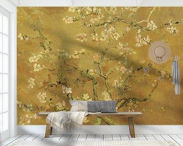 Amandelbloesem van Vincent van Gogh (Oker)